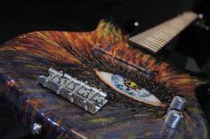 """Glam Rock Supernova""  bass done in mixed media artwork"