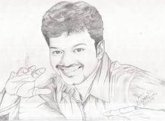 Actor Vijay drawing