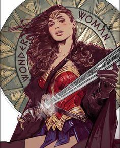 Eu sou Diana de Temysira. Filha de Hipólita a rainha das amazonas. Em nome de tudo que é bom, sua ira sobre este mundo acaba agora!