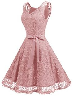 Dressystar Women Floral Lace Bridesmaid Party Dress Short Prom Dress V Neck M Blush -- You could get added details at the photo link. (This is an affiliate link). Dresses For Teens, Short Dresses, Formal Dresses, Girls Dresses, Pretty Dresses, Beautiful Dresses, Dress Outfits, Fashion Dresses, Casual Outfits