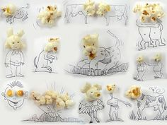 Awesome Creative Art: Drawing with the BIG Pen Cap as Topic! Provided by Artist Victor Nunez