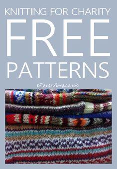 Weaving for charity - free patterns - Knitting Patterns Knitting For Charity, Free Knitting, Baby Knitting, Knitting Needles, Knitting Designs, Knitting Projects, Crochet Projects, Knitting Ideas, Knitting Machine Patterns