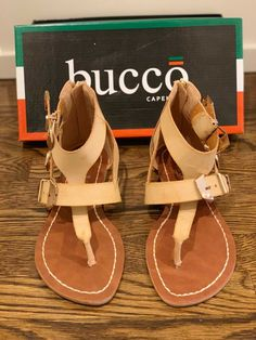 e73745ed2 BUCCO WOMEN S HATCHET SANDALS CAMEL US SIZE 7M NEW   NEVER WORN  fashion   clothing  shoes  accessories  womensshoes  sandals (ebay link)