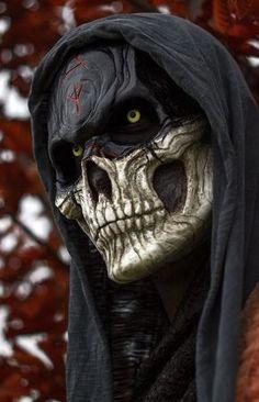 Blitz, John Walker, heir to Dionysius Creepy Masks, Cool Masks, Creepy Art, Dark Fantasy Art, Grim Reaper Art, Character Art, Character Design, Skull Pictures, Skull Artwork