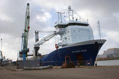 8 februari 2015 in de haven van Harlingen ATLANTIC DWAN Bouwjaar 2013, imonummer 9671462 grt 5465