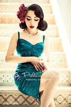 Le Palais Vintage (limited edition) Retro Malachite Green Corset Holiday Dress