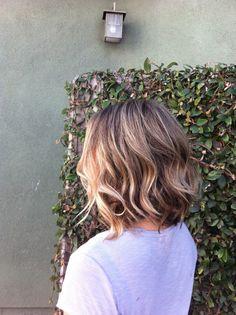 Angled bob, cute short hairstyle, too bad I want long