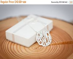 ON SALE (15% OFF) 925 Sterling Silver Personalized Monogram Necklace Classic - 100 Percent Handmade in Usa