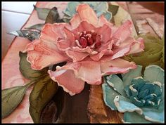 Using Tattered Florals (Tim Holtz)
