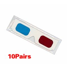 CES Hot 10 Pairs of Red/Cyan Cardboard 3D Glasses #Affiliate