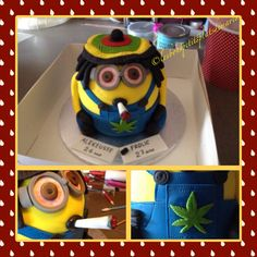 Gâteau Minion Rasta Creations, Cake, Desserts, Food, Pie Cake, Meal, Cakes, Deserts, Essen