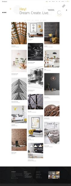 Decoration portfolio WordPress theme has a huge set of amazing homepages, inner page layouts, blog templates and portfolio lists & sliders.  #wordpress #theme #layout #design #webdesign #architecture #architect #interiordesign #interiordesigner #portfolio #creative Architecture Logo, Industrial Architecture, Industrial Interiors, Concept Architecture, Photography Office, Interior Design Photography, Modern Interior Design, Harmony Design, Color Harmony