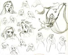 I can't help sharing a little selection of Glen Keane's artwork. Seen on Pinterest ( link here ). No he podido evitar compartir esta peque...