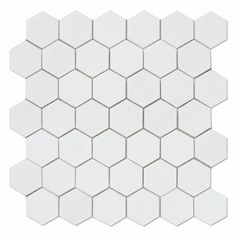 "Buy Thassos White Marble Polished 2"" Hexagon Mosaic Tile Sample Product Attributes - Item: Premium (SELECT) Quality 2"" Greek Thassos White Marble HEXAGON POLISHED MOSAIC TILE (ON-MESH) - Dimensions (p"