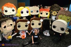 Christopher: Hand built Funko POP Heads for our group costume. All heads were built by me and then we all crafted them to be our favorite horror characters. Movie Character Halloween Costumes, Best Diy Halloween Costumes, Toy Story Costumes, Halloween Costume Contest, Diy Costumes, Halloween Crafts, Halloween Horror, Costume Ideas, Funko Pop Horror