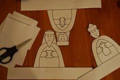 Three Kings Day, Epiphany - paper craft for kids. Free printable Three Wise Men stands for kids. szabblonowo: Darmowy szablon figurek na Święto Trzech Króli