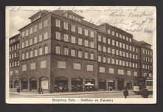 AK-Königsberg / Ostpreussen,Stadthaus am Hansaring,gel.1928,Ecken gestaucht