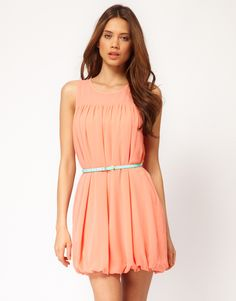 mini dress w/ bubble hem ++ asos