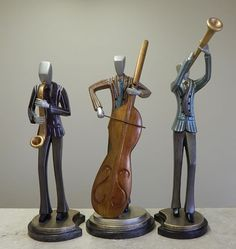 Modern Jazz Musicians Sculptures Trio. Available at AllSculptures.com