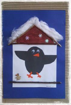 Winter Magic, Winter Art, Winter Theme, Winter Kids, Projects For Kids, Diy For Kids, Art Projects, Crafts For Kids, Bird Crafts