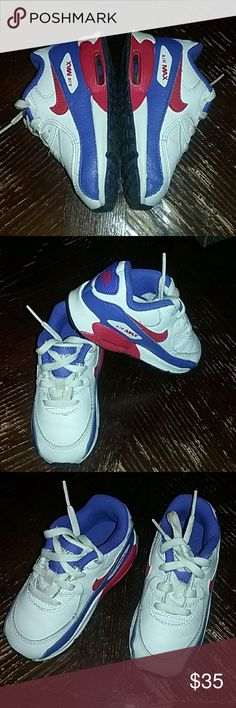 Toddler Air Max Like new toddler size 7c Air Max. My son may have worn these 2 times at the most, he grew out of them way too fast! They are clean and in pretty new condition! Make an offer! Bundle and save! Nike Shoes Sneakers