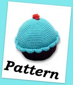 Crochet cupcake pillow PDF pattern by crochetedlittlething on Etsy, $6.00