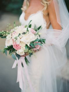 Pink + white wedding bouquet: http://www.stylemepretty.com/little-black-book-blog/2015/11/04/black-tie-calamigos-ranch-wedding/ | Photography: Diana McGregor - http://www.dianamcgregor.com/k249qjouywr5thx5vb87pgmdkuy9cj
