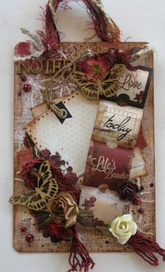 Shabby Chic Gift Tag, Wall Hanging