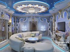 Villa Interior Design in Dubai, Luxury Residential Villas, Photo 23 Mansion Interior, Luxury Homes Interior, Interior Design, Bedroom False Ceiling Design, Master Bedroom Design, Dream Home Design, Modern House Design, Luxury Homes Dream Houses, Dream Rooms