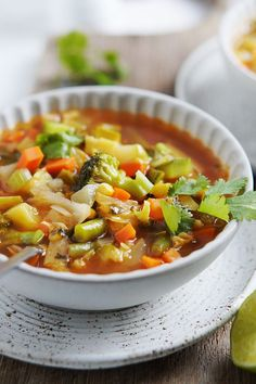 Show your whole body some love with this nutrient-dense soup containing broccoli, zucchini, carrots, celery, corn, cabbage, chayote (a gourd common in Latin cuisine), and potatoes. Photo credit: Muy Delish Womens Health Magazine WOMENS HEALTH MAGAZINE | IN.PINTEREST.COM HEALTH EDUCRATSWEB