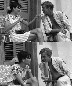 since we're pinning lovely people...   Anna Karina & Michael Caine