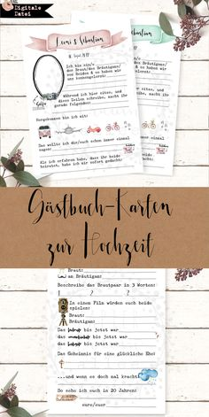 Guest book - cards to fill out: A personal gift for the newlyweds! - love # guestbook idea gifts Effective pictures we provide you about di - Wedding Ceremony Decorations, Wedding Games, Mug Diy, College Gifts, Self Design, Holiday Cocktails, Appreciation Gifts, Wedding Guest Book, Maid Of Honor