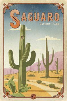 Saguaro National Park Poster