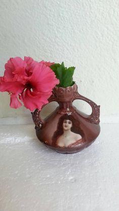 Porcelain Small Burgundy Flower Vase with Woman Portrait made | Etsy Female Portrait, Woman Portrait, Burgundy Flowers, Flower Vases, Best Gifts, Candle Holders, Porcelain, Pottery, Candles