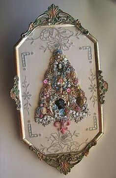 Christmas Tree with vintage jewelry