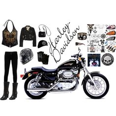 """""""harley davidson"""" by brittany307 on Polyvore"""