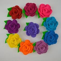 Mini Flower Brooch Sewing Kit by fibrespace on Etsy