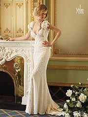 YolanCris beautiful vintage inspired Sita dress with pearls.