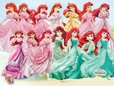 Ariel Human Evolution by fenixfairy on DeviantArt Ariel Disney, Disney Pixar, Disney Films, Disney Princess Fashion, Disney Princess Art, Disney Princess Dresses, Disney Fan Art, Ariel Pink Dress, Little Mermaid Dresses