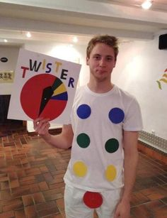 Homemade Twister costume - Funny idea!  Found on Google Images