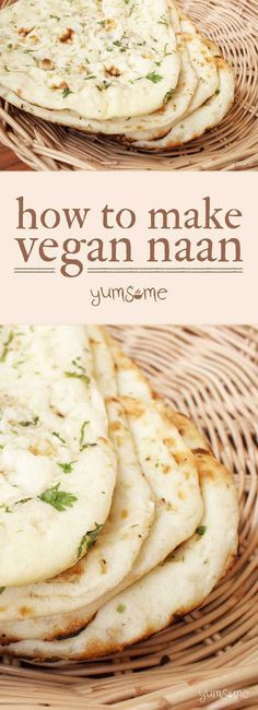 My naan is soft and pillowy, with a little bit of chewiness. If you love the naan in Indian restaurants, you'll adore this! | yumsome.com via @yums0me