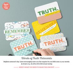 Inspired Stamping by Janey Backer: Project Ideas, Words of Truth, Stampin' Up!