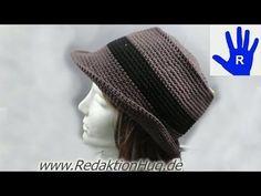 Häkeln - Hut aus hatnut surf von Pro Lana - Häkelhut - Größe 54 - 58 - YouTube