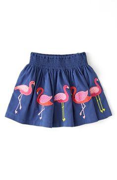 Adorable flamingo applique skirt from Mini Boden.