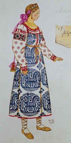 Goat. Sketch of dress to opera by Nikolai Rimsky-Korsakov
