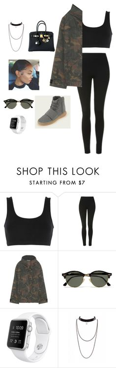 """Yeezy"" by shania-collier on Polyvore featuring adidas Originals, Topshop, Ray-Ban and Hermès"