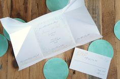 Hanabi - origami-inspired wedding invitations by A Tactile Perception. Include your wishing well, accommodation and RSVP information inside your origami invitation.