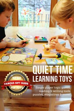 Quiet time learning toys gift guide - I want everything on this list!! Love the detailed descriptions and age recommendations, super helpful! Toddler Toys, Kids Toys, Toddler Fun, Quiet Time Activities, Family Activities, Writing Games, Top Toys, Learning Toys, Kids Playing