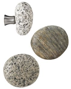 SEA STONE CABINET KNOBS OR DRAWER PULLS | Sea Stone Cabinet Handles And Drawer Pull From New England - Alluring, Northeastern, Charming, Peaceful, Calming, Natural Home Decor | UncommonGoods