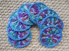 Eight All Cotton Facial Scrubbies Pads or Makeup by TooCozy, $10.25